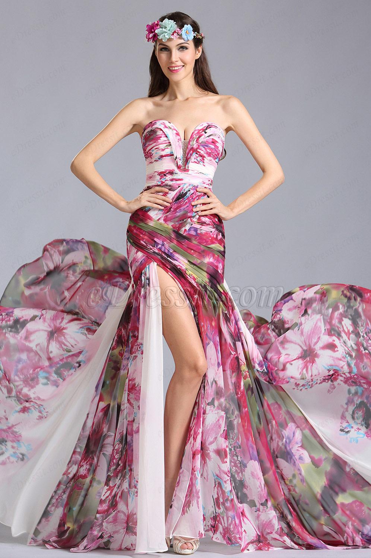 Robe de soiree couleur vive